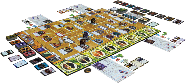 arkham-horror-3D-board-layout